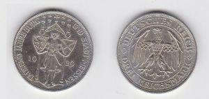 Silber Münze 3 Mark 1000 Jahre Stadt Meißen 1929 E (131181)