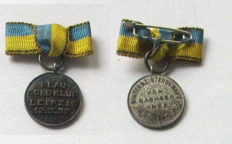 Seltene Silber Medaille Blau Goldklub Leipzig Wintermeisterschaft 1932 (132524)