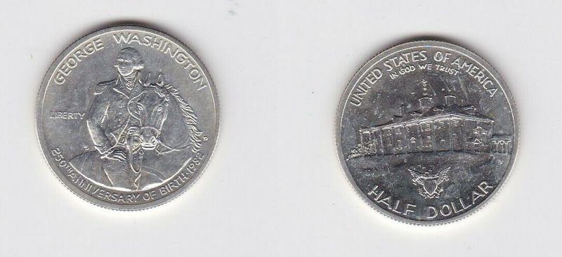 1/2 Dollar Silber Münze USA Washingtons Landhaus 1982 (131396)
