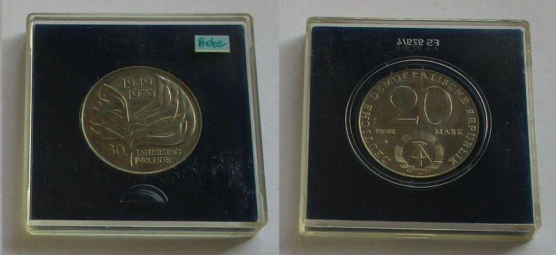 DDR Gedenk Münze 20 Mark 30. Jahrestag der DDR 1979 Probe Stempelglanz (131935)