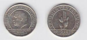Silber Münze 3 Mark Verfassung