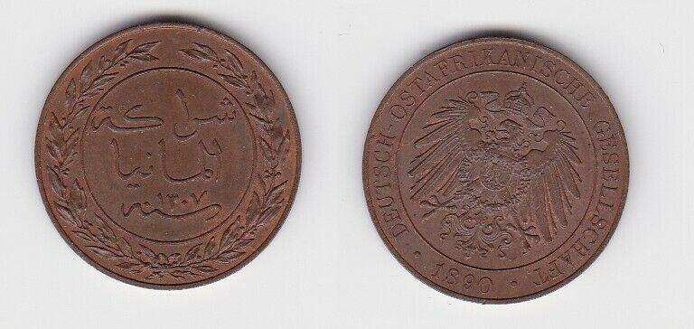1 Pesa Kupfer Münze Deutsch Ostafrika 1892 vz (130066)
