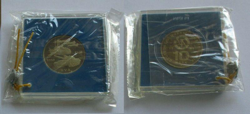 DDR Gedenk Münze 10 Mark 25 Jahre Nationale Volksarmee NVA 1981 PP (132006)