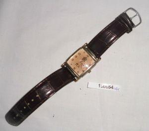 Schöne Quarz Herren Armbanduhr PCA mit Lederarmband (100854)