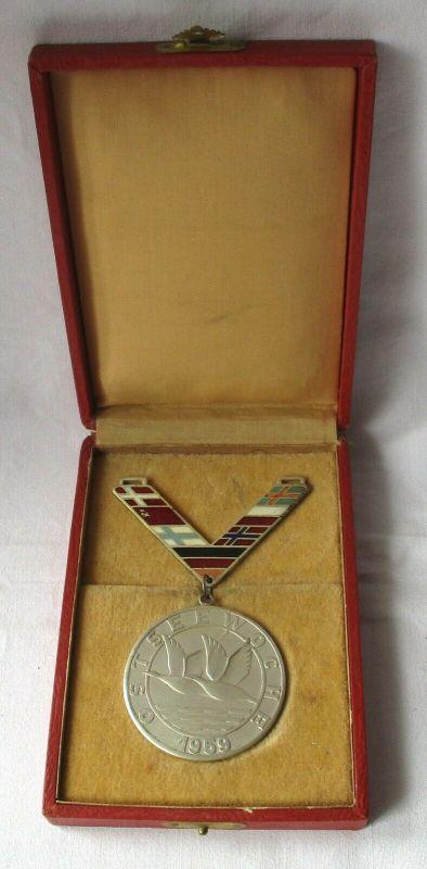 Medaille Ostseewoche 1959 Stufe 2 Silber Sporttreffen der Ostseeländer (119988)