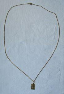 Elegante Damenkette Kette aus 333er Gold mit Sternzeichen Anhänger (108912)