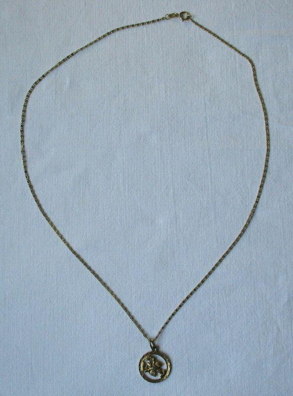 Elegante Damenkette Kette aus 333er Gold mit Sternzeichen Anhänger (109181)