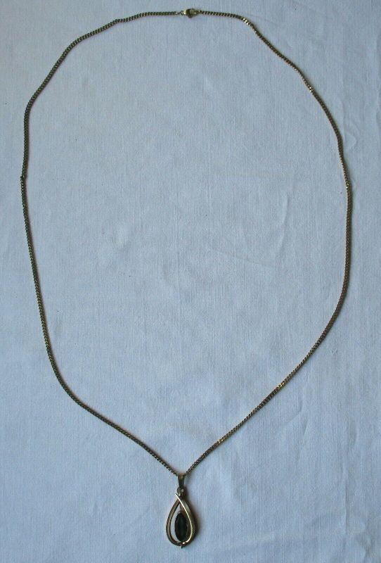 Elegante Damenkette Kette aus 333er Gold mit Schmuckstein Anhänger (101253)