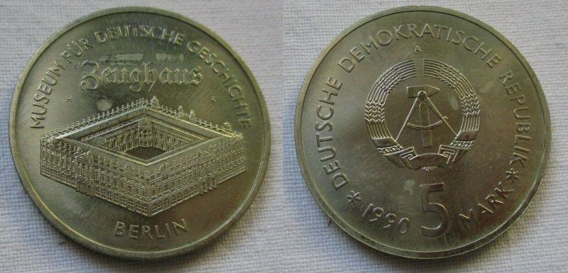 DDR Gedenk Münze 5 Mark Berlin Zeughaus 1990 (119833)