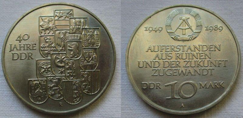 DDR Gedenk Münze 10 Mark 40.Jahrestag der DDR 1989 (118891)