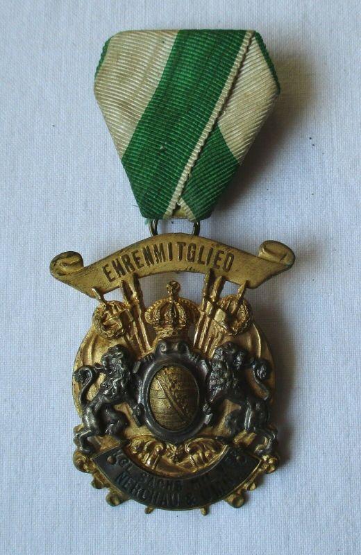 Seltener Orden Ehrenmitglied königl. sächsischer Militär Verein Nerchau (101338)