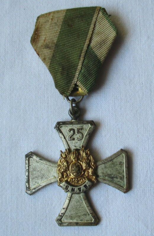 Seltener Orden 25 Jahre sächsischer Militär Verein Bund Kreuz um 1910 (104107)