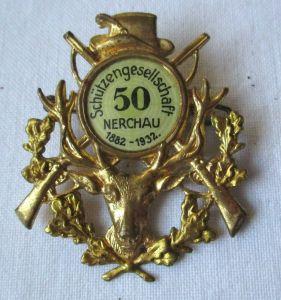 Blech Abzeichen 50 Jahre Schützengesellschaft Nerchau 1882-1932 (100657)