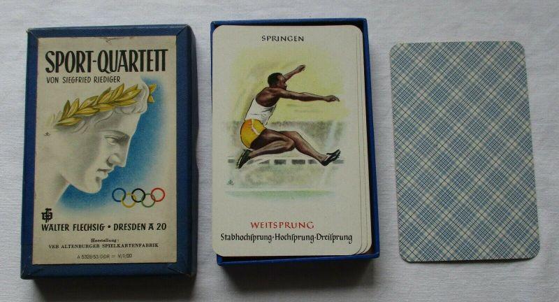 DDR Kartenspiel Olympia Sport Quartett Siegfried Riediger Altenburg 1953 /113628