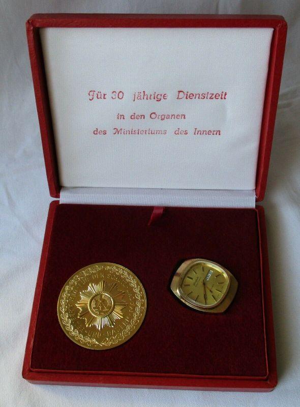 Glashütte Spezichchron 30 Jahre MdI mit Verleihungsschachtel & Medaille (114577)