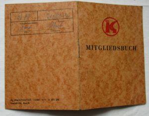 DDR Mitgliedsbuch der Konsumgenossenschaft Meuselwitz 1965 (115268)