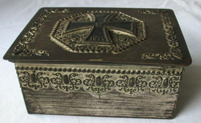 Unikat Reservistika Andenken Schachtel mit Eisernem Kreuz 1. Weltkrieg (118524)