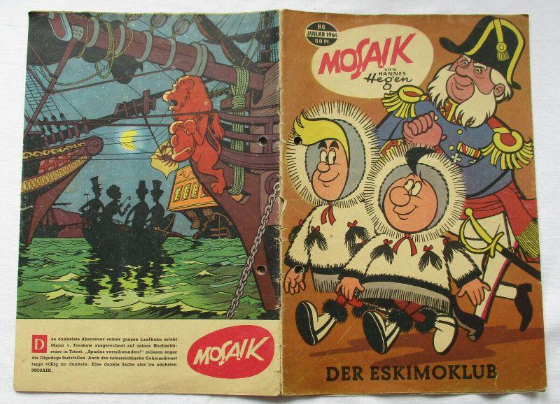 Mosaik von Hannes Hegen Digedag Nummer 86 von 1964 (105421)