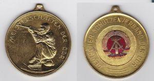 Seltene DDR Medaille Deutscher Schützenverband der DDR Gold 1978 (133134)