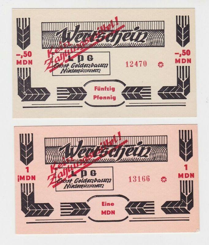 2 Banknoten DDR LPG Geld