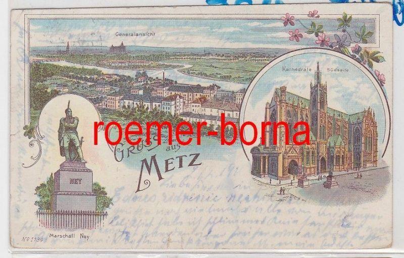 86017 Ak Lithografie Gruss aus Metz 1900