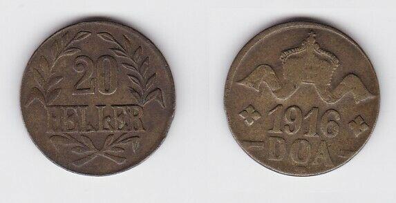 20 Heller Messing Münze Deutsch Ostafrika DOA 1916 J.724 b  (124028)
