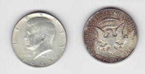 1/2 Dollar Silber Münze USA 1965 J.F. Kennedy (126350)