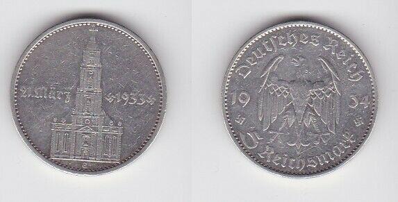 5 Mark Silber Münze 3. Reich Garnisonkirche 1934 E (121692)