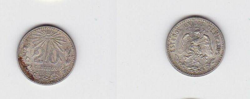 20 Centavos Silber Münze Mexiko 1942 (126923)