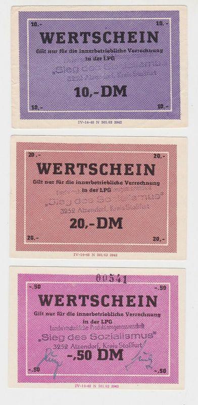 3 Banknote DDR LPG Geld