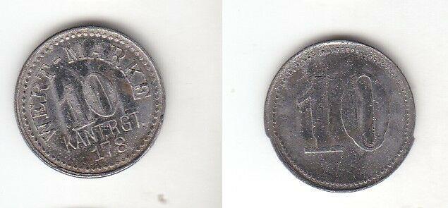 Seltene alte 10 Pfennig Wertmarke Kantine Regiment 178 um 1915 (111941)