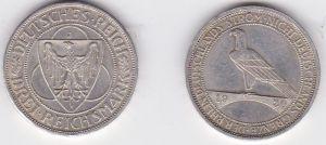 Silbermuenze 3 Mark Der Rhein 1930 J (123145)