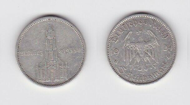 5 Mark Silber Münze 3. Reich Garnisonkirche 1934 A (127245)
