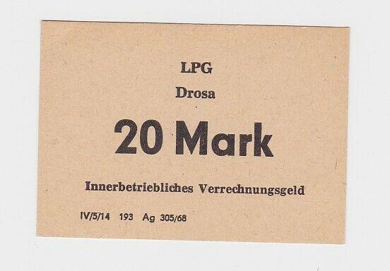 20 Mark Banknote DDR LPG Geld