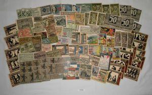 Sammlung mit 100 Banknoten Notgeld Deutsches Reich um 1921 (132139)