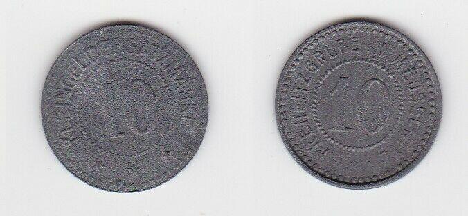 Seltene Münze Meuselwitz 10 Kleingeldersatzmarke Zink Prehlitzgrube (123656)
