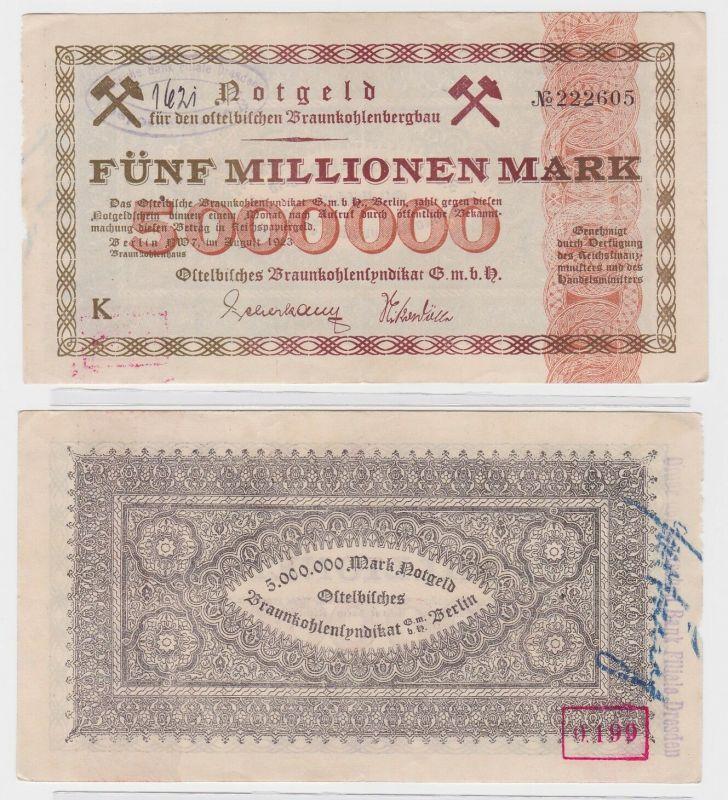 5 Millionen Mark Ostelbisches Braunkohlensyndikat GmbH Berlin 1923 (122640)