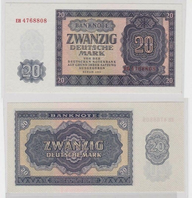 20 Mark Banknote DDR Deutsche Notenbank 1955 kassenfrisch (122533)