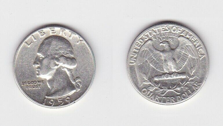 1/2 Dollar Silbermünze USA 1959 John F.Kennedy (124719)