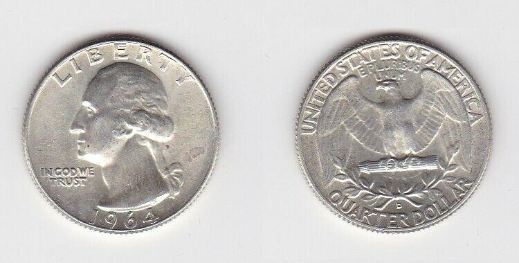 1/2 Dollar Silbermünze USA 1964 John F.Kennedy (126175)
