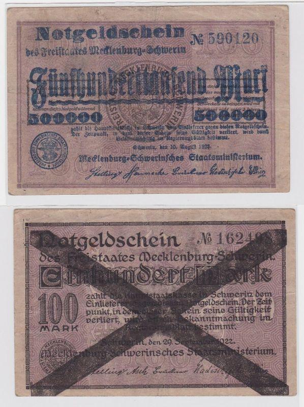 500000 Mark Banknote Freistaat Mecklenburg Schwerin 10.8.1923 (121886)