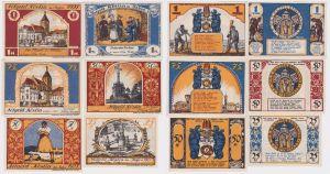 6 Banknoten Notgeld Stadt Köslin Koszalin in Pommern 1921 (120383)
