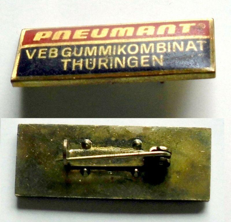 Seltenes DDR Abzeichen Pneumant VEB Gummikombinat Thüringen (132087)