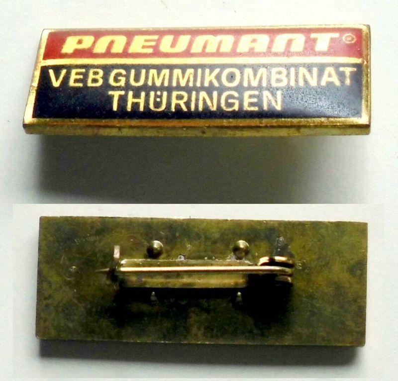 Seltenes DDR Abzeichen Pneumant VEB Gummikombinat Thüringen (131772)