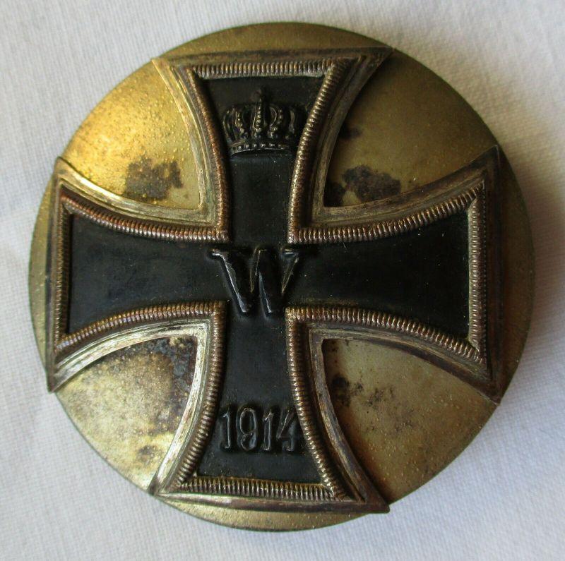 Seltenes Eisernes Kreuz 1.Klasse 1914 mit Gegenplatte 1.Weltkrieg (113187)