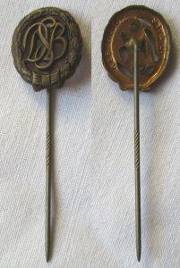 Altes Sportabzeichen Deutscher Sportbund in Bronze (DSB) Miniatur (117855)