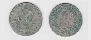 20 Kreuzer Silber Münze RDR Habsburg Österreich 1765 Franz I Stephan (129847)