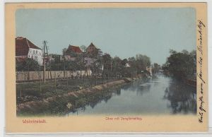 69245 Feldpost Ak Wolmirstedt Ohre mit Jungfernstieg 1911