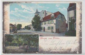91642 Mehrbild Ak Gruß aus Dölitz Gasthof zu deutschen Haus 1909