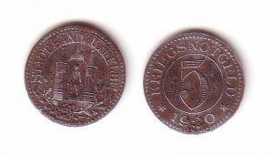 5 Pfennig Eisen Notmünze Stadt Sandau an der Elbe 1920 (105265)